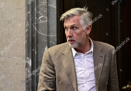 Stock Photo of Defendant Walter Meischberger attends a trial against former Finance Minister Karl-Heinz Grasser and other defendants at the Vienna District Criminal Court, in Vienna, Austria, 24 October 2019. The trial of Karl-Heinz Grasser and other defendants are facing charges of alleged fraud and corruption in connection with the privatization of the federal housing association 'Buwog'.