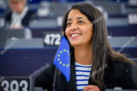 Stock Picture of Karima Delli during a plenary session at the European Parliament in Strasbourg - Climate and ecological emergency