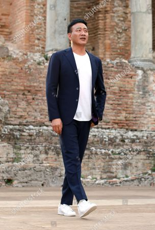 Stock Photo of Hu Jun visiting the Greek theatre