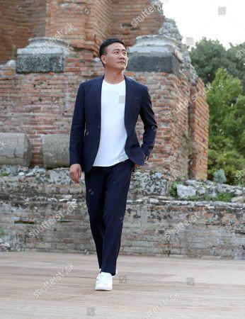 Stock Image of Hu Jun visiting the Greek theatre