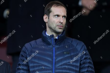Petr Cech in the stands