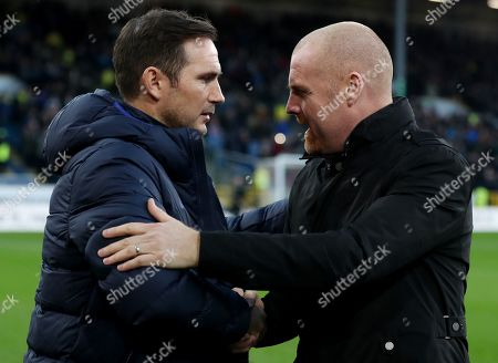 Burnley manager Sean Dyche and Chelsea Manager Frank Lampard