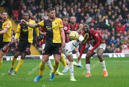 Editorial image of Watford v Bournemouth, Premier League, Football, Vicarage Road, Watford, UK - 26 Oct 2019