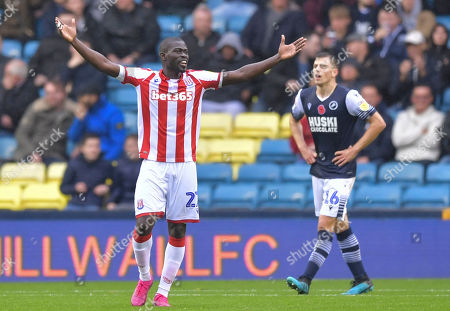 Badou Ndiaye of Stoke City reacts after a missed chance
