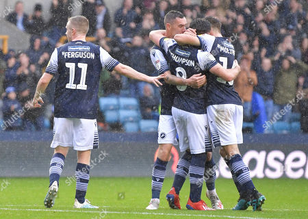 Ben Thompson of Millwall celebrates after scoring (1-0)