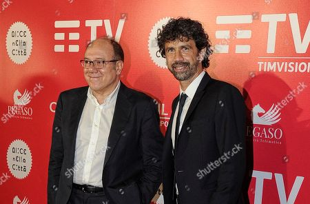Stock Photo of Carlo Verdone and Damiano Tommasi