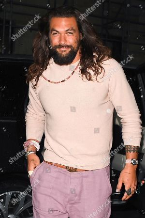 Editorial image of Jason Momoa out and about, London, UK - 24 Oct 2019