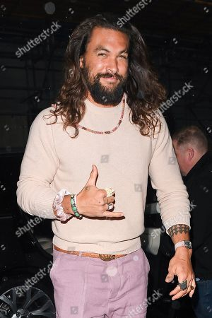 Editorial photo of Jason Momoa out and about, London, UK - 24 Oct 2019