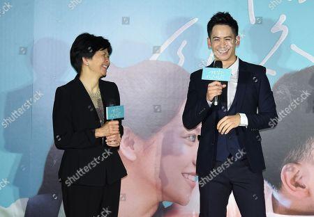 Stock Photo of Jane Lin and Mason Lee