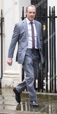 Dominic Raab, Secretary of State for Foreign and Commonwealth Affairs, First Secretary of State, arrives for the Cabinet meeting.