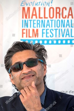 Asif Kapadia poses during a presser after being awarded in the framework of Mallorca Evolution! International Film Festival in Palma de Mallorca, Balearic Islands, Spain, 24 October 2019.