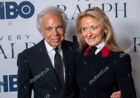 "Ralph Lauren, Ricky Lauren. Ralph Lauren and Ricky Lauren attend the world premiere of HBO Documentary Films' ""Very Ralph"" at the Metropolitan Museum of Art, in New York"