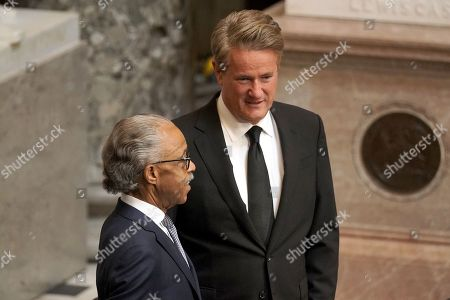 Joe Scarborough and Rev. Al Sharpton are seen prior to a ceremony honoring late Rep. Elijah Cummings (D-Md.) before he lies in state at the US Capitol in Washington, DC, USA, 24 October 2019. Late Maryland Representative Elijah Cummings died on 17 October 2019.