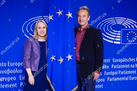 Stock Image of Jane Brophy and Chris Davies