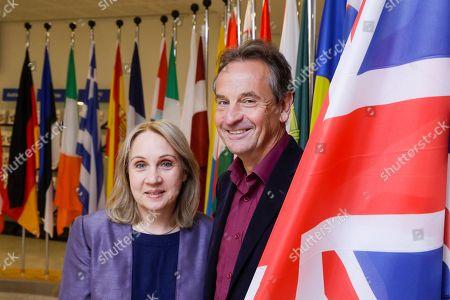Stock Photo of Jane Brophy and Chris Davies