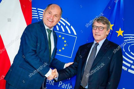 Editorial photo of European Parliament President David Sassoli meetings, Brussels, Belgium - 23 Sep 2019