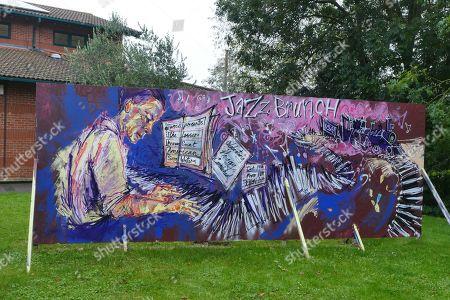 Editorial image of Hoagland Howard 'Hoagy' Carmichael artwork, Botley Road, Oxford, UK - 24 Oct 2019