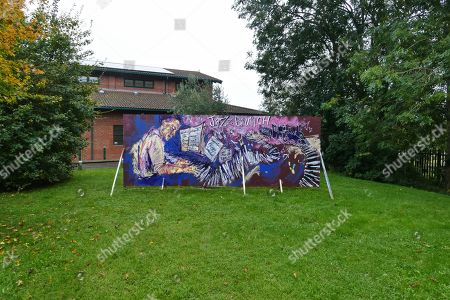"Stock Image of Artwork remembering Hoagland Howard ""Hoagy"" Carmichael"