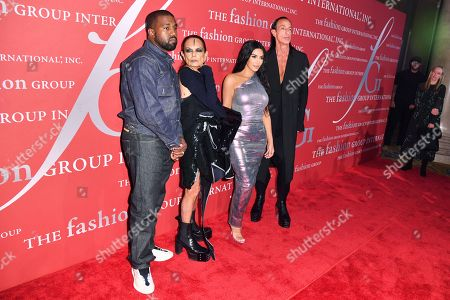 Kanye West, Michele Lamy, Kim Kardashian West and Rick Owen