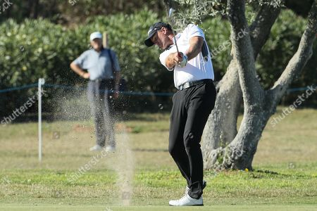 Sweden's Robert Karlsson in action during the second day of Portugal Masters golf tournament held in Vilamoura, Algarve, Portugal, 24 October 2019.