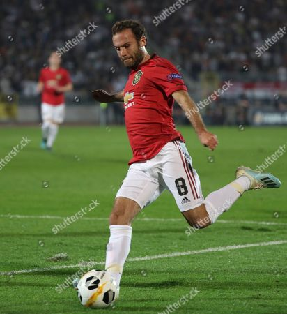 Manchester United's Juan Mata in action during the UEFA Europa League group L soccer match between FK Partizan and Manchester United in Belgrade, Serbia, 24 October 2019.