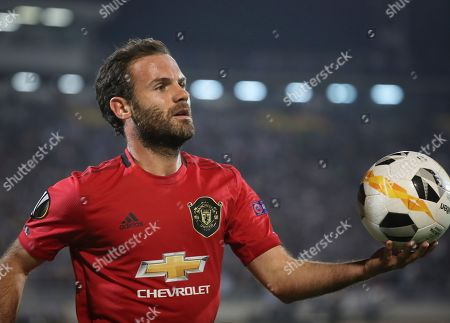 Manchester United's Juan Mata during the UEFA Europa League group L soccer match between FK Partizan and Manchester United in Belgrade, Serbia, 24 October 2019.