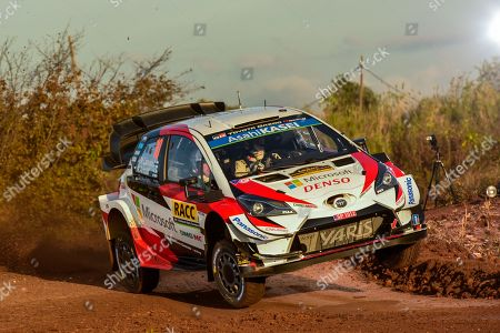 Jari-Matti Latvala of Finland drives his Toyota Yaris WRC during the shakedown of Rally Spain 2019, Salou, Spain, 24 October 2019.