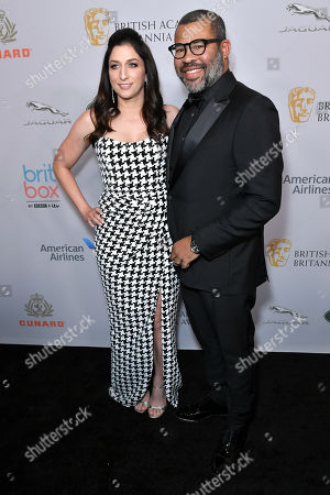 Stock Picture of Chelsea Peretti and Jordan Peele