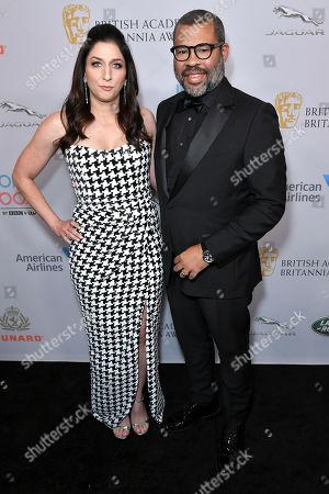 Stock Picture of Chelsea Peretti and Jordan Peele