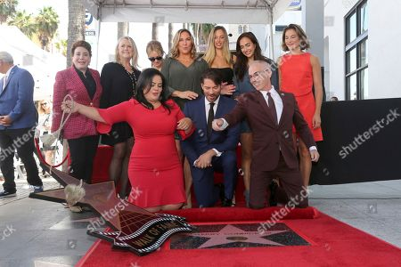 Donelle Dadigan, Trish Kinane, Rana Ghadban, Renee Zellweger, Jill Goodacre, Harry Connick Jr., Georgia Tatum Connick, Charlotte Connick, Mitch O'Farrell, Kate Connick. Donelle Dadigan, from left, Trish Kinane, Rana Ghadban, Renee Zellweger,Jill Goodacre, Harry Connick Jr., Georgia Tatum Connick, Charlotte Connick, Mitch O'Farrell and Kate Connick unveil a star during a ceremony honoring Harry Connick Jr. with a star at the Hollywood Walk of Fame, in Los Angeles