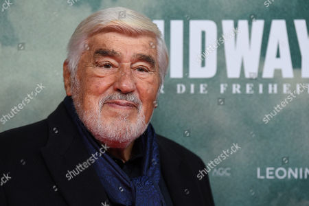 Mario Adorf arrives for the premiere of the film 'Midway' in Munich, Germany, 24 October 2019. The movie opens across German theaters on 07 November.