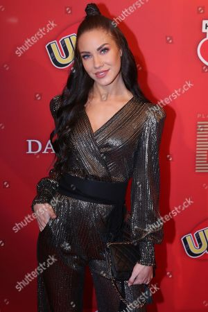 German social media celebrity Stephanie Davis poses on the red carpet for ?Place To B Playing for Charity? in Berlin, Germany, 24 October 2019.