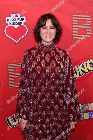 German actress Natalia Avelon poses on the red carpet for ?Place To B Playing for Charity? in Berlin, Germany, 24 October 2019.