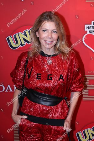 Stock Photo of German actress Ursula Karven poses on the red carpet for ?Place To B Playing for Charity? in Berlin, Germany, 24 October 2019.