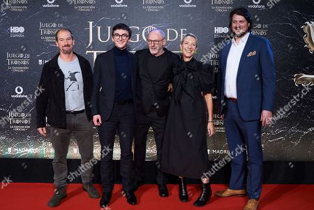 Isaac Hempstead Wright, Liam Cunningham and Michelle Clapton