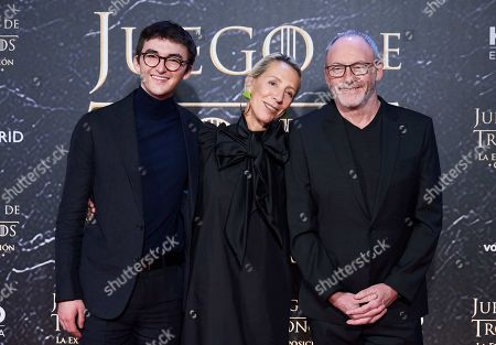 Stock Picture of Isaac Hempstead Wright, Michelle Clapton and Liam Cunningham