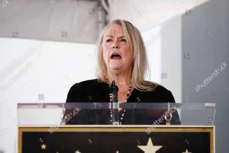 Stock Picture of Showrunner and executive producer of American Idol and president, Entertainment Programming Fremantle, Trish Kinane delivers a speech as US singer Harry Connick Jr. is honored with the 2,678th star on the Hollywood Walk of Fame in Hollywood, California, USA, 24 October 2019. The star was dedicated in the category of Recording.