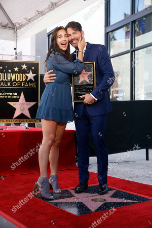 Harry Connick Jr. poses with his daughter Charlotte Connick as he is honored with the 2,678th star on the Hollywood Walk of Fame in Hollywood, California, USA, 24 October 2019. The star was dedicated in the category of Recording.