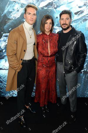 Oliver Proudlock, Eran Elfassy and Elisa Dahan