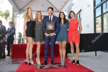 Georgia Tatum Connick, Jill Goodacre, Harry Connick Jr., Charlotte Connick, Sarah Kate Connick. Georgia Tatum Connick, from left, Jill Goodacre, Harry Connick Jr., Charlotte Connick and Sarah Kate Connick pose atop a star during a ceremony honoring Harry Connick Jr. with a star at the Hollywood Walk of Fame, in Los Angeles