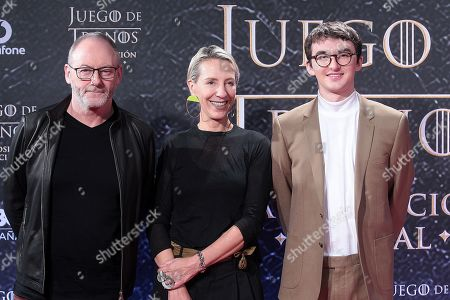 Liam Cunningham, Michelle Clapton and Isaac Hempstead-Wrigth