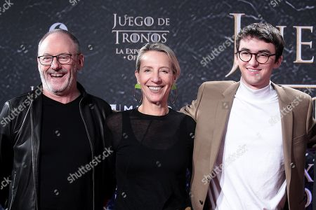 Stock Image of Liam Cunningham, Michelle Clapton and Isaac Hempstead-Wrigth