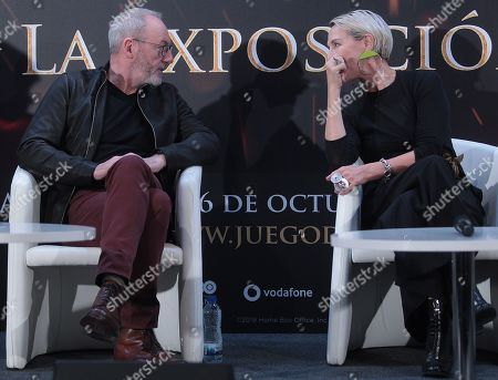 Liam Cunningham and Michelle Clapton