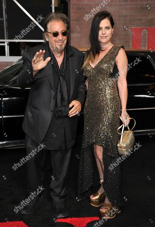 """Al Pacino, Meital Dohan. Al Pacino, left, and Meital Dohan arrive at the Los Angeles premiere of """"The Irishman"""", at the TCL Chinese Theatre"""