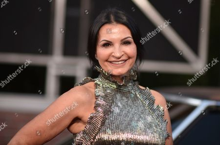 """Kathrine Narducci arrives at the Los Angeles premiere of """"The Irishman"""", at the TCL Chinese Theatre"""
