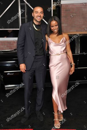 """Jesse Williams, Taylour Paige. Jesse Williams, left, and Taylour Paige arrive at the Los Angeles premiere of """"The Irishman"""", at the TCL Chinese Theatre"""