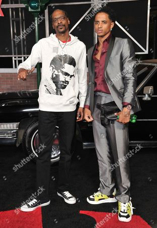 """Snoop Dogg, Cordell Broadus. Snoop Dogg, left, and Cordell Broadus arrive at the Los Angeles premiere of """"The Irishman"""", at the TCL Chinese Theatre"""
