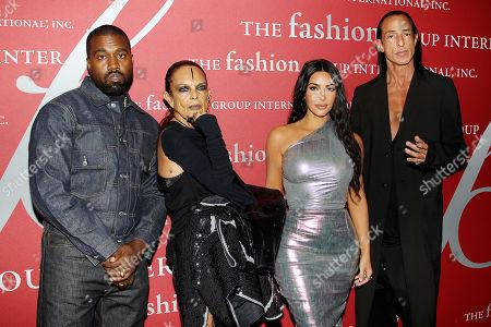 Kanye West, Michele Lamy, Kim Kardashian West and Rick Owens