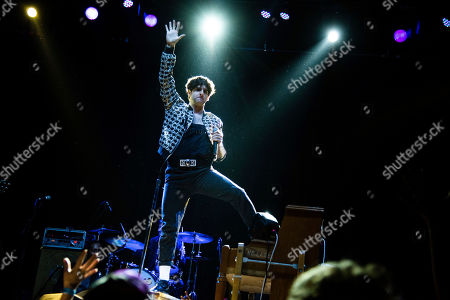 Adam Weiner of Low Cut Connie performs on stage at The Masquerade, in Atlanta