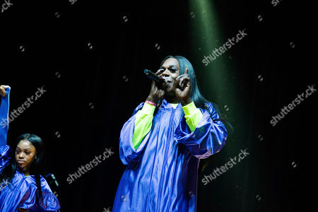 Big Freedia performs on stage at The Masquerade, in Atlanta